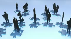 business people puzzle - stock footage