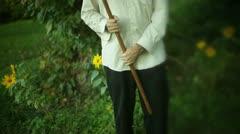 Amish guy farmer 2 Stock Footage