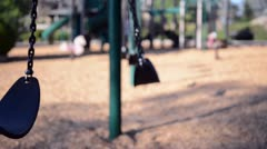 Swings for children Stock Footage