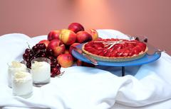food neatly arranged at five star hotel - stock photo