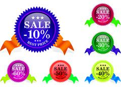 Sale sample set Stock Illustration