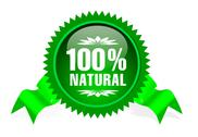 Label for natural products Stock Illustration