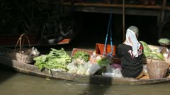 Floating market Thailand food Stock Footage