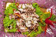 Stock Photo of chinese dish, salad squid