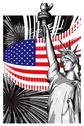 America Stock Illustration