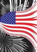 United states vector flag Stock Illustration