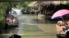 Floating market Thailand Stock Footage