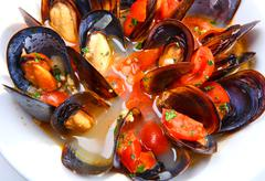 Mussel stew (ragout) Stock Photos