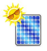 Aurinkoenergiaa paneeli Piirros