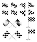 Stock Illustration of racing flags, vector set