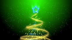 Christmas Tree Background - Merry Christmas 74 (HD) Stock Footage