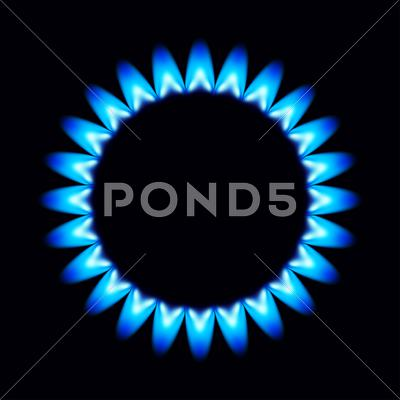 Stock Illustration of vector flames of gas