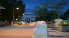 Windy night at Po Lin Monastery Stock Footage