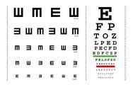 Vector snellen eye test charts Stock Illustration