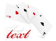 Stock Illustration of four aces of different card suits