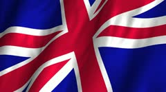 Great Britain Waving Flag Stock Footage