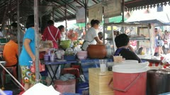 Thailand food market Stock Footage