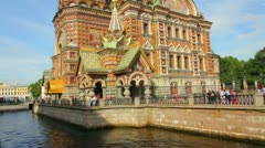 Savior on Blood - Christ the Savior Cathedral in St. Petersburg - stock footage