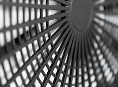 Large industrial fan close-up Stock Photos