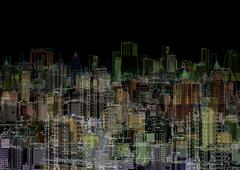 Stock Photo of abstract graphic composition - night metropolis