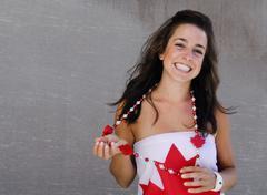 canadian girl - stock photo