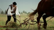 Romanian farmer 2 Stock Footage