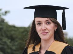 graduation closeup - stock photo