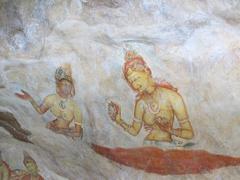 Frescoes at sigiriya, sri lanka Stock Photos