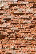 Stock Photo of red old brick wall structure