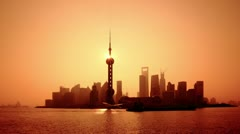"Shanghai in the morning, timelapse.>>>Please search similar: ""ShanghaiSkyline"" Stock Footage"