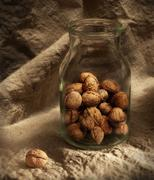 Still-life with nuts Stock Photos