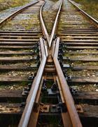 railroad tracks - stock photo