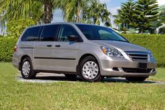 Minivan - stock photo