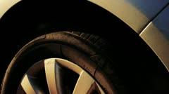 Car Showcase - Slow Wheel Pan HD Stock Footage