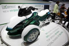Can-Am spyder hybrid roadster - stock photo