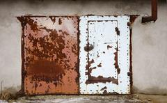 Stock Photo of old door of a garage