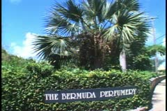 Bermuda Perfumery sign Stock Footage