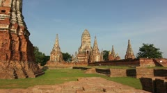 Ancient buddhist temple Thailand ruins Stock Footage