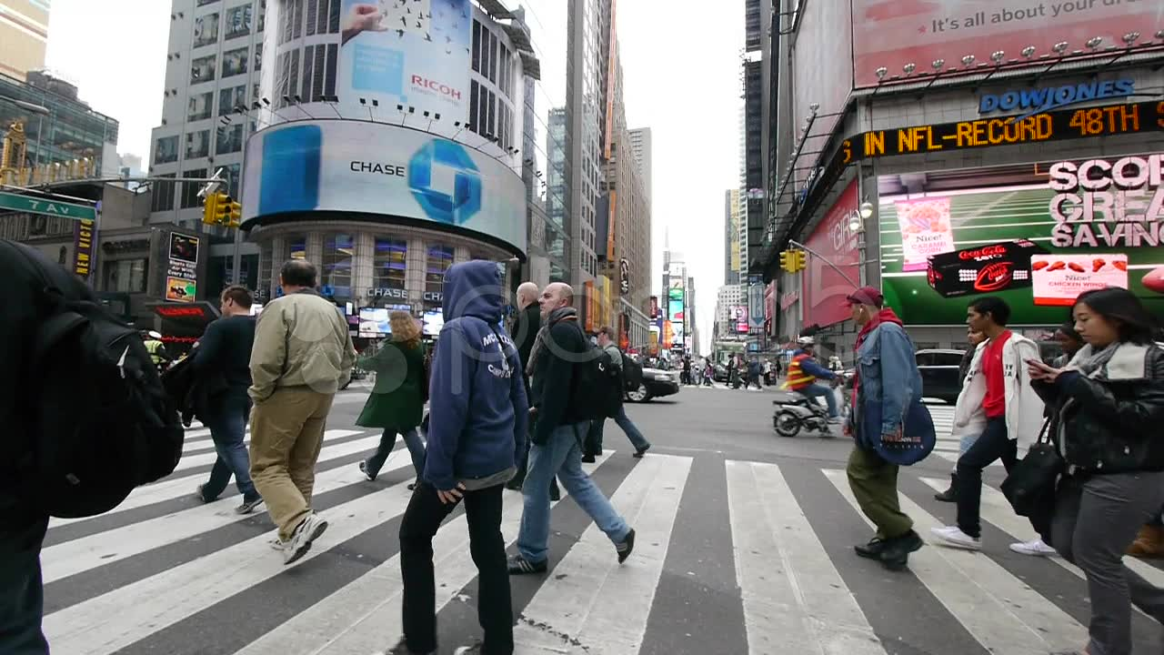 Photo of People Walking in the Streets of New York City ...  |Person Walking City