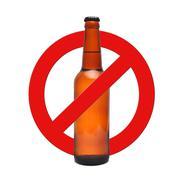 Sign stop alcohol Stock Photos