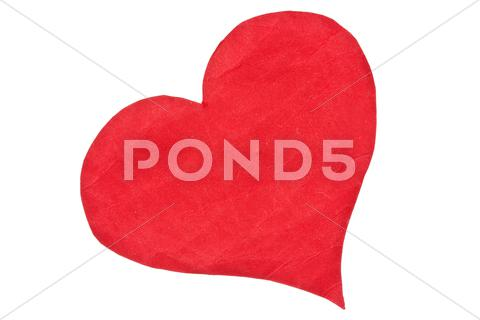 Stock photo of red paper heart