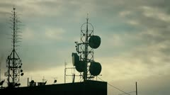 Antenna and clouds - stock footage