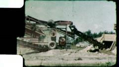 GRAVEL PIT Mining Mineral Industry 1950s (Vintage Film Home Movie) 4637 Stock Footage