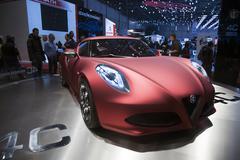 Alfa Romeo 4C concept car Stock Photos