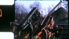 GRAVEL PIT Mining Construction Industry 1950s (Vintage Film Home Movie) 4639 Stock Footage