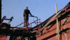 GRAVEL PIT Mining Construction Industry 1950s (Vintage Film Home Movie) 4641 Stock Footage