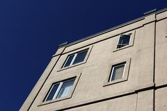 Building and blue sky - stock photo
