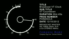 BROADCAST VT CLOCK - stock after effects