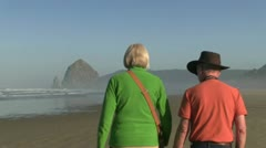 Canon beach, Oregon Stock Footage