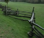 Colonial Style Fence Stock Footage